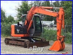 2006 Hitachi ZX75US Midi Hydraulic Excavator A/C Cab Dozer Blade Aux Hyd