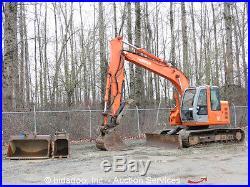2006 Hitachi Zaxis ZX135US Hydraulic Excavator Thumb Q/C A/C Cab Aux Hydraulics
