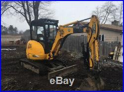 2006 JCB 8032 Hydraulic Mini Excavator with Cab & Hydraulic Thumb