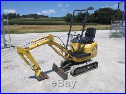 2006 Komatsu Pc09 Mini Excavator, Orops, Aux Hyds, 4'9 Digging Depth, 387 Hours