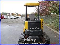 2006 Komatsu PC35MR-2 Mini Excavator Yanmar Diesel 12 Rubber Tracks 20 Bucket