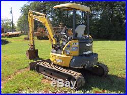 2006 Komatsu PC35MR-2 Mini Excavator Yanmar Diesel 12 Rubber Tracks Aux Hyd