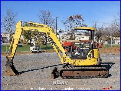 2006 Komatsu PC50MR-2 Hydraulic Mini Excavator Rubber Tracks Blade Aux Hyd Q/C