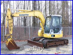 2006 Komatsu PC78US-6NO Hydraulic Mini Excavator Blade A/C Aux Hyd Midi PC78
