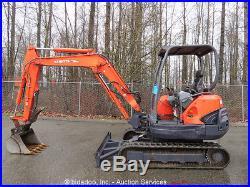 2006 Kubota KX121-3 Hydraulic Mini Excavator Rubber Tracks Hyd Thumb bidadoo