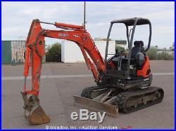 2006 Kubota U25 Mini Excavator Rubber Tracks Diesel Backhoe bidadoo