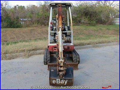 2006 Takeuchi TB016 Hydraulic Mini Excavator Backhoe Dozer Blade Rubber Tracks
