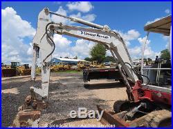 2006 Takeuchi TB125 Mini Excavator Rubber Tracks Backhoe w Blade Aux Hydraulics