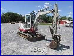 2006 Takeuchi TB145 Mini Excavator withCab & Thumb