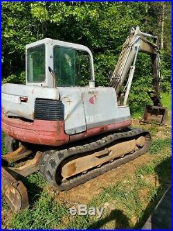 2006 Takeuchi TB175 Mini Excavator Hydraulic Thumb A/C Cab Backfill Blade Aux