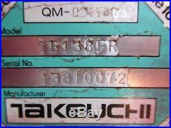 2006 Takeuchi Tb138fr Excavator