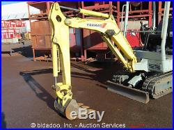2006 Yanmar B15-3 Mini Excavator Rubber Tracks Hydraulic Diesel Backhoe Track