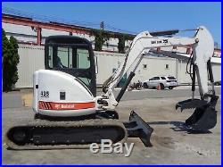 2007 BobCat 435HAG Mini Excavator- Diesel- Enclosed Cab
