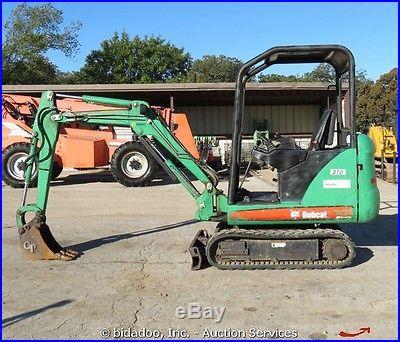 2007 Bobcat 323J Compact Mini Excavator Aux Hydraulics Kubota 30 HP bidadoo