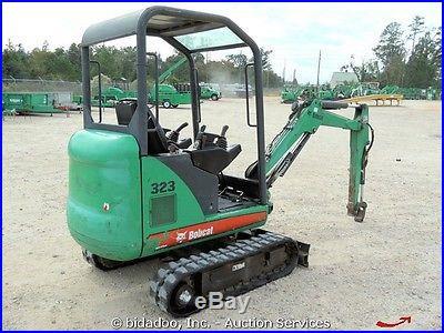 2007 Bobcat 323J Mini Hydraulic Excavator Retractable Tracks Dozer Blade Kubota