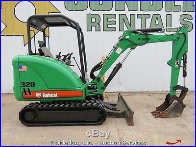 2007 Bobcat 328G Mini Excavator Backhoe Aux Hydraulics 55 Dozer Blade bidadoo