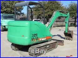 2007 Bobcat 329G Compact Mini Excavator AUX Hydraulics Kubota Blade bidadoo