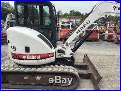2007 Bobcat 435 Hydraulic Mini Excavator with Cab & Thumb Kubota Diesel 4100Hrs