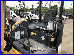 2007 Caterpillar 303C CR Mini Excavator Open Cab Push Blade Aux Hydraulics