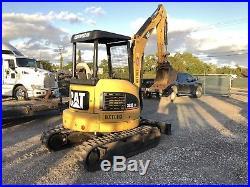 2007 Caterpillar 303c Cr Mini Excavator Open Cab Push Blade