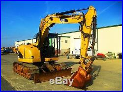 2007 Caterpillar 308D Hydraulic Excavator, Full Cab, Street Pads, 4684 Hours