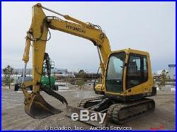 2007 Hyundai Robex 80-7 Hydraulic Excavator Hydraulic Thumb Blade Cab bidadoo
