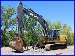 2007 John Deere 240D Hydraulic Excavator 52 Bucket With Hydraulic Thumb AC Cab