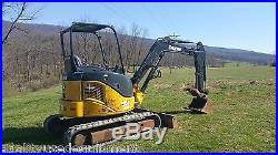 2007 John Deere 35D Mini Excavator with Hydraulic Thumb Tracked Hoe Plumbed Blade