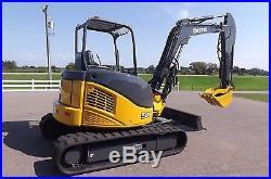 2007 John Deere 50D Excavator 1 Owner Fleet Owned Hydraulic Thumb Extended Boom
