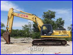 2007 Kobelco SK350LC Hydraulic Excavator Cab Heat A/C 31.5 Tracks bidadoo