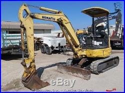 2007 Komatsu PC27MR-2 Mini Excavator Backhoe Diesel Back Fill Blade bidadoo