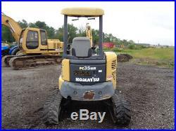 2007 Komatsu PC35MR-2 Excavator, OROPS, Hyd Thumb, 29HP Yanmar Diesel Engine