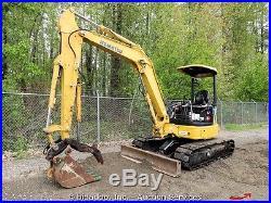 2007 Komatsu PC50MR-2 Hydraulic Mini Excavator Hyd Thumb Dozer Blade Yanmar Q/C