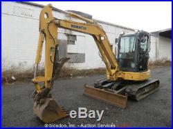 2007 Komatsu PC50MR-2 Mini Excavator Hydraulic Thumb A/C Cab Aux Backfill Blade