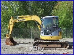 2007 Komatsu PC78US-6 Midi Hydraulic Excavator Enclosed Cab A/C EROPS Track Hoe