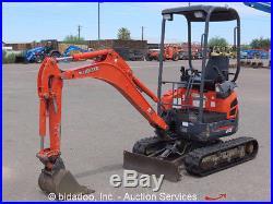 2007 Kubota U15 Mini Excavator Backhoe Extendable Rubber Tracks 2 Buckets Blade