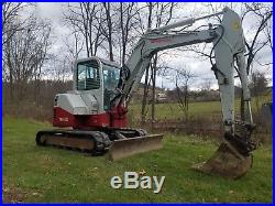 2007 Takeuchi TB153FR Mini Excavator Hydraulic Tracked Hoe Construction Machine