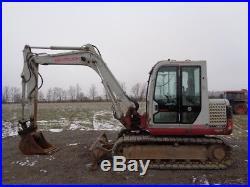 2007 Takeuchi TB175 Excavator, Cab/Heat/Air, Blade, Aux Hyd, 6,561 Hours