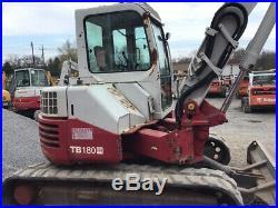 2007 Takeuchi TB180FR Hydraulic Midi Excavator with Cab & Thumb CHEAP