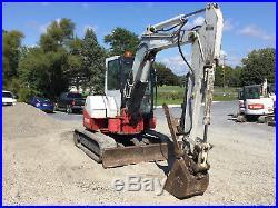 2007 Takeuchi TB53FR Mini Excavator withCab & Hydraulic Thumb