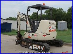2007 Terex TC37 Mini Excavator Backhoe Aux Hydraulics Diesel Blade Q/C bidadoo