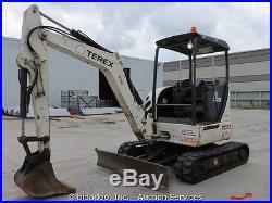 2007 Terex TC37 Mini Excavator Backhoe Aux Hydraulics Diesel Blade bidadoo