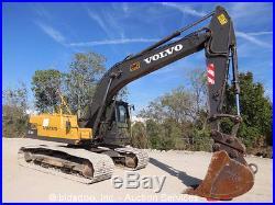 2007 Volvo EC210CL Hydraulic Excavator A/C Cab Hyd Q/C 30 Bucket AUX bidadoo