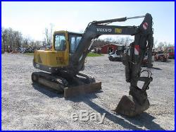 2007 Volvo EC55B Midi Excavator withCab & Thumb