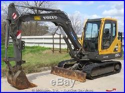 2007 Volvo EC55B PRO Mini Excavator Trackhoe Dozer Cab A/C Diesel Midi bidadoo