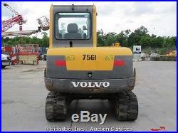 2007 Volvo EC55B PRO Mini Hydraulic Excavator Trackhoe Dozer Cab A/C Heat Midi