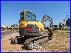 2007 Volvo ECR58 Mini Excavator Hydraulic Thumb A/C Cab Backfill Blade AUX