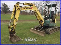 2007 Yanmar Vio-35 Mini Rubber Track Excavator Backhoe Hydraulic Export