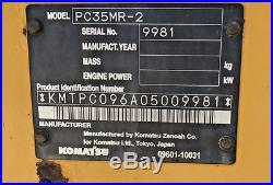 2008 2009 Komatsu PC35MR-2 Mini Excavator Low Hours 4 Buckets