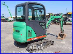 2008 Bobcat 323J Mini Excavator Heated Cab X-Tend Tracks Diesel Dozer Blade AUX